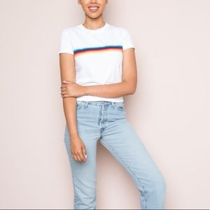 Brandy Melville Jamie Rainbow top